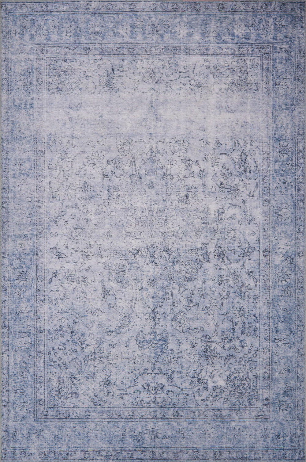 Timeless and classic, the Loren Collection offers vintage hand-knotted looks at an affordable price. Created in Turkey using the most advanced rug-making technology, these printed designs provide a textured effect by portraying every single individual knot on a soft polyester base.  Power Loomed 100% Polyester LQ-09 Slate