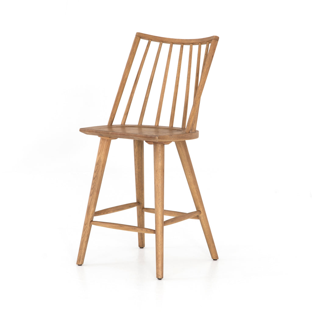 "The Lewis Windsor Sandy Oak Bar + Counter Stool is clean and timeless.   Counter Stool: 18.25""w x 20.25""d x 39.25""h Bar Stool: 18.25""w x 20.25""d x 44.25""h  Materials: Iron"