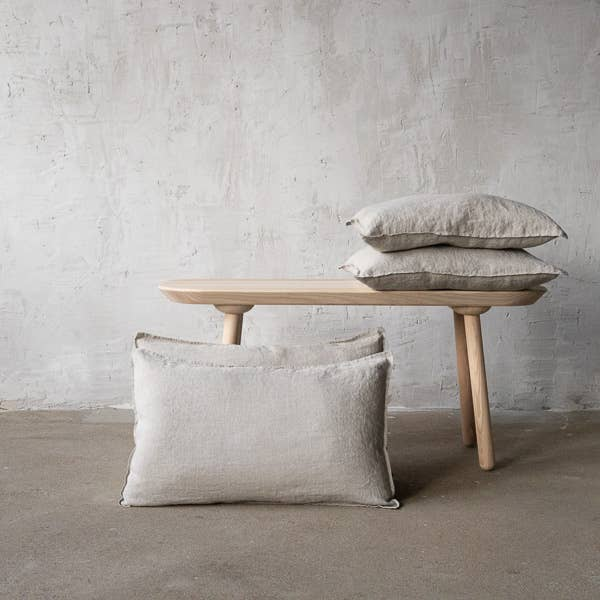 The Linen Natural Stone Washed Cushion Cover from LinenMe are crafted from lightweight pure linen in a plain weave, and has a 1cm edging that provides definition and form. This is sure to bring a beautiful, magical night of sleep.   Ships from Lithunia in 33-47 days. Some things are worth the wait!   Machine washed. Tumble dried