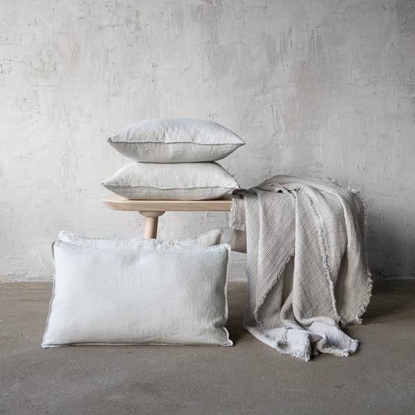 The Linen Silver Stone Washed Cushion Cover from LinenMe are crafted from lightweight pure linen in a plain weave, and has a 1cm edging that provides definition and form. This is sure to bring a beautiful, magical night of sleep.   Ships from Lithunia in 33-47 days. Some things are worth the wait!   Machine washed. Tumble dried