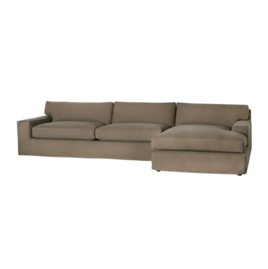 With its streamlined silhouette and strong, angular lines the Loft 2 Piece Sectional - Essentials is classic without being too traditional. It has a modern essence and elegance that lends inviting appeal to your seating ensemble. Dim the lights, and settle down with the family for an entertaining night in.