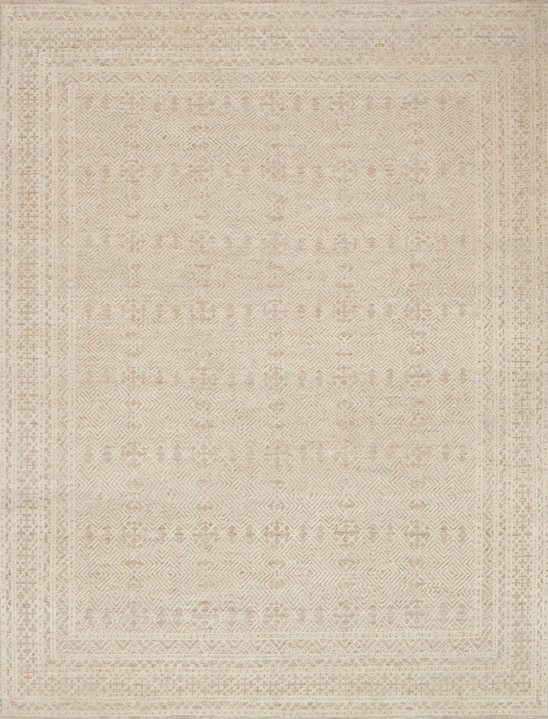 The Origin Oatmeal / Ivory area rug by Loloi is gorgeously shown in colors of oatmeal and ivory. The different heights of the rug have comfortable textures and add visual depth to elevate any living room, bedroom, or dining room. Amethyst Home proudly serves the Omaha, Kansas City, Des Moines, Dallas, and Austin metro.