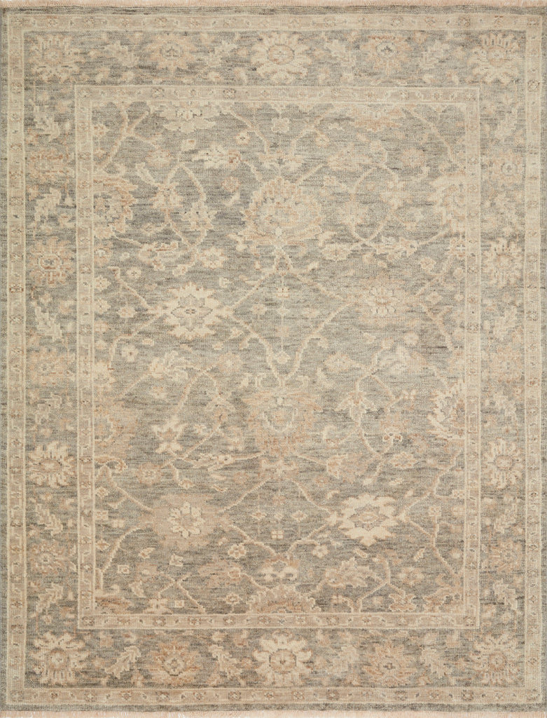 The Helena Silver / Ivory HEL-07 rug from Loloi is hand-knotted of 100% wool, refined, yet versatile for any home. The Helena rug combines weathered tones and worldly patterns for a beautiful grounding element in any room. Amethyst Home provides interior design, new construction, custom furniture, and rugs for the Omaha and Lincoln Nebraska metro area.