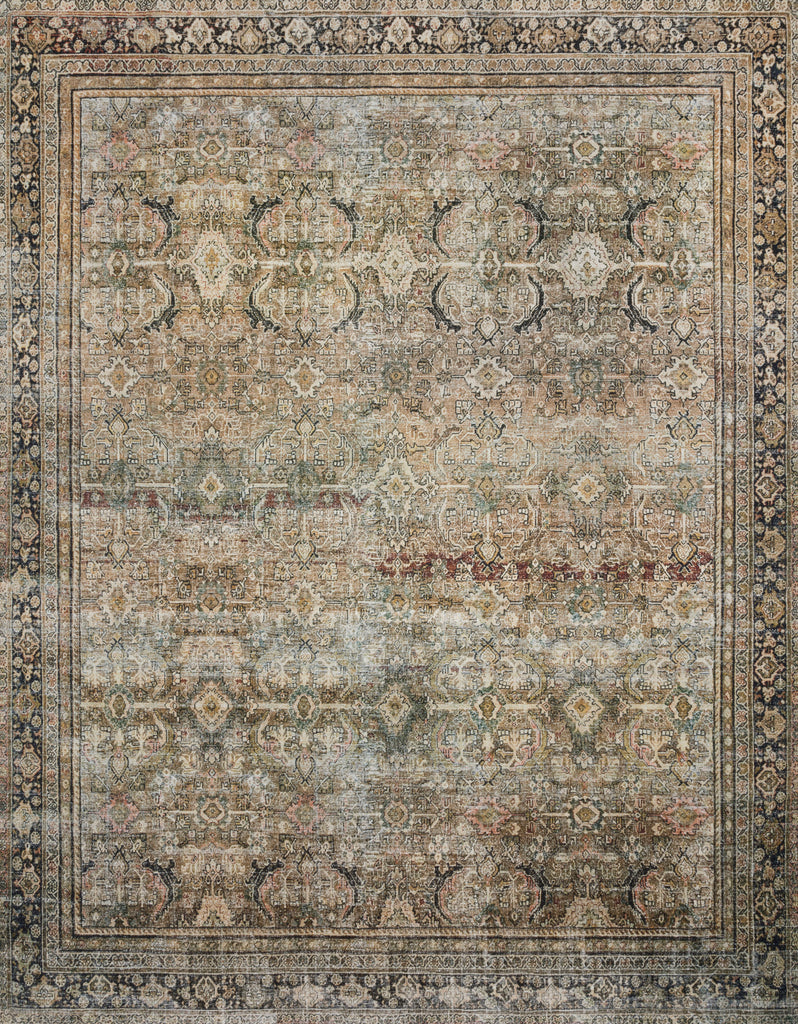 Perfect for families with kids and pets and very easy to clean and maintain. Comes in area, cute kitchen and hallway runner sizes. The rug is gorgeous with an intricate pattern and warms up the room with beautiful color tones. The Layla Olive/Charcoal LAY-03 rug from Loloi captures the spirit of an old-world rug. Amethyst Home provides interior design, new construction, custom furniture, and rugs for the Des Moines and Cedar Rapids metro area.