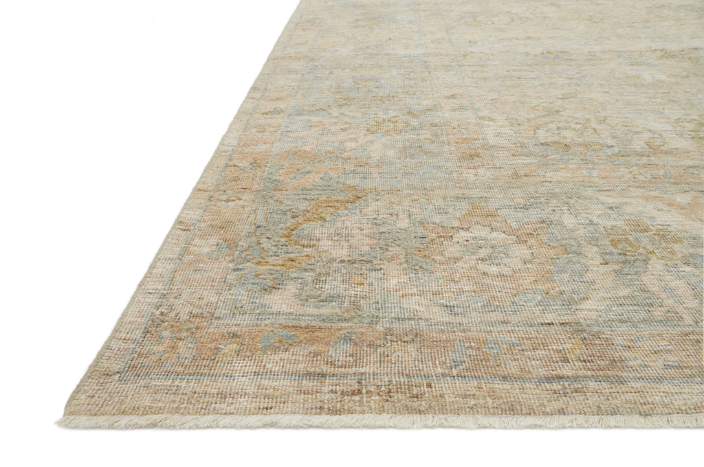 The Legacy Ash/Lagoon LZ-01 Rug from Loloi is hand-knotted, refined, yet versatile for hallways, living rooms, bedrooms, and extra large spaces. The Legacy rug is deliberately distressed and sheared down to an extra low pile of 100% wool, creating a patina usually only imparted through decades of wear. Amethyst Home provides interior design, new construction, custom furniture, and rugs for the Des Moines and Chicago metro area.