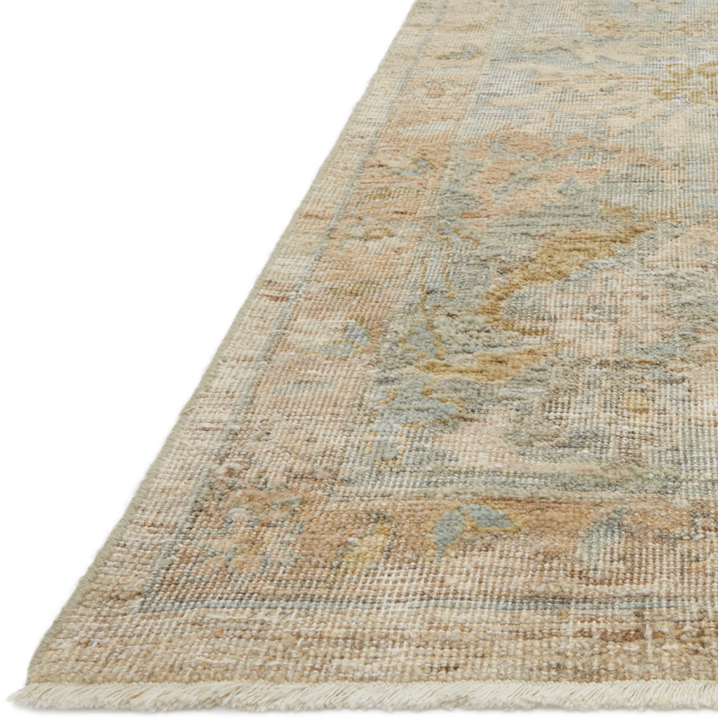 The Legacy Ash/Lagoon LZ-01 Rug from Loloi is hand-knotted, refined, yet versatile for hallways, living rooms, bedrooms, and extra large spaces. The Legacy rug is deliberately distressed and sheared down to an extra low pile of 100% wool, creating a patina usually only imparted through decades of wear. Amethyst Home provides interior design, new construction, custom furniture, and rugs for the Kansas City metro area.