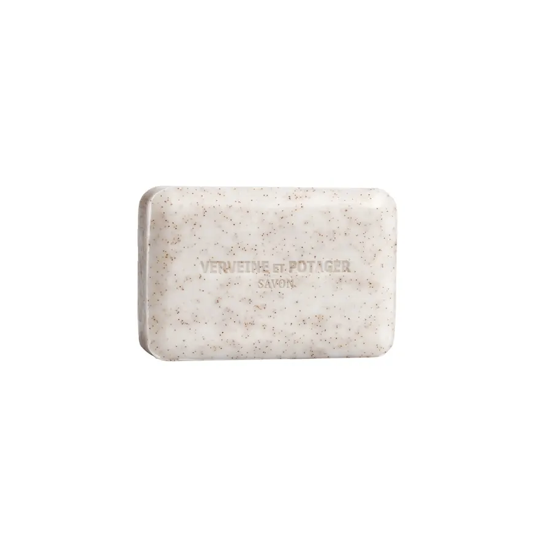 Inspired by the rural charm of French country living, we love how gentle this Lothantique Verveine et Potager Exfoliating Soap is. The notes of lemon, anise, rose, petitgrain, and blackcurrant on a blend of musk and cedarwood leave your bathroom or shower smelling amazing.