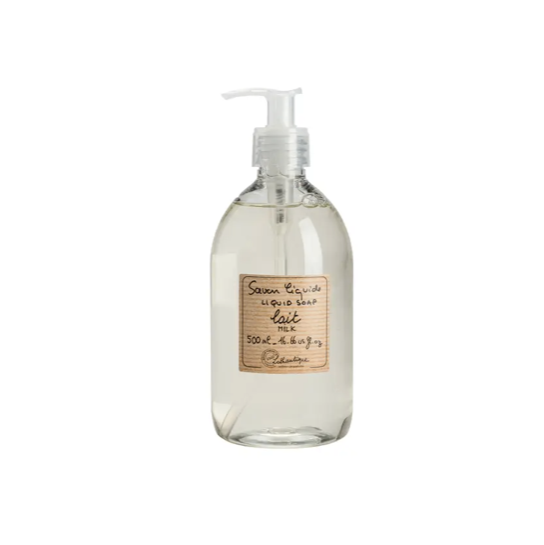 We love these French made, Marseille-style Lothantique Milk Liquid Soap. They are vegetable based are great for your kitchen or bathroom. Sodium lauryl sulphate and paraben free!  16.66 us fl. Plastic bottle.