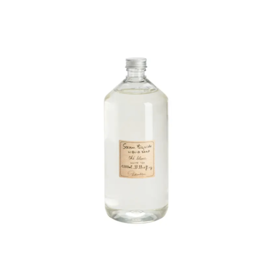 We love these French made, Marseille-style Lothantique White Tea Liquid Soap Refill. They are vegetable based are great to refill your kitchen or bathroom soap holders. Sodium lauryl sulphate and paraben free!  33.33 us fl. oz. Plastic bottle.