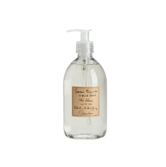We love these French made, Marseille-style Lothantique White Tea Liquid Soap. They are vegetable based are great for your kitchen or bathroom. Sodium lauryl sulphate and paraben free!  16.66 us fl. Plastic bottle.