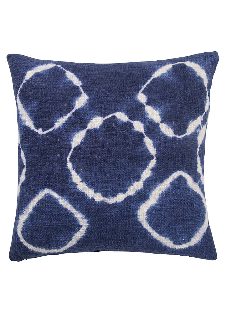"Over-dyed with inky blues, the Montparnasse pillow collection will enhance the atmosphere of any room. Dyed and crafted by the hands of skilled artisan makes every pillow truly unique.  Material: 100% Cotton Size: 20"" x 20"""