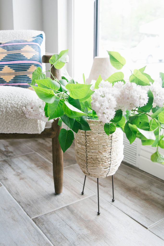 Corn Rope Footed Basket Planter
