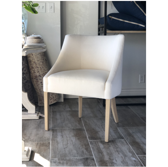 "A Verellen best-seller, the Melvin Dining Chair features a tight back, tight seat, and double needle stitch detail.  Dimensions: 26""W x 21""D x 34""H Exterior Depth: 25"" Seat Depth: 18""  Final sale  Local pick-up only"