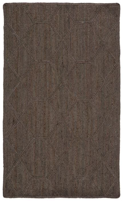 The Naturals Tobago collection delivers rich texture and organic allure to contemporary homes. Handwoven of jute, the Ponce area rug showcases a chic geometric trellis design. The mix of gray, taupe, and brown hues lend a deep natural tone to ground any space.  Handwoven  100% Jute  NAT42 Naturals Tobago Ponce Rug