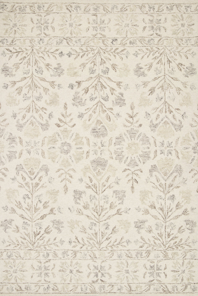 Perfect for families with kids and pets and easy to clean and maintain. Comes in area, cute kitchen and hallway runner sizes. The rug warms up any room with tones of ivory and taupe in soft, natural 100% wool. The Norabel Ivory / Neutral rug from Loloi captures the spirit of coziness and beautiful botanical motifs.