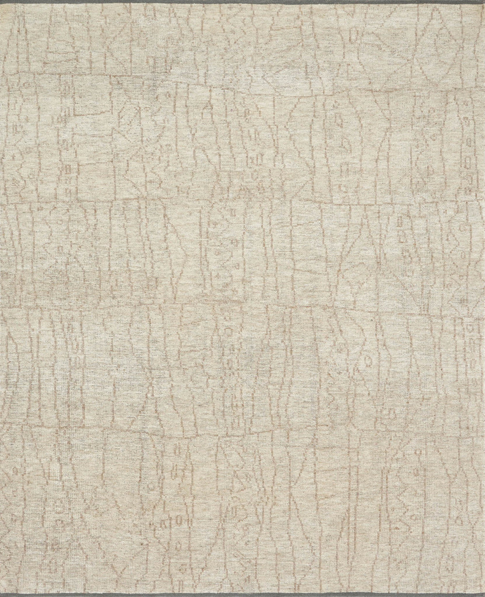 Drawing inspiration from tribal influences, the Odyssey Collection combines relaxed linear pattern with a sophisticated color palette. Each Odyssey rug, which is hand-knotted of wool and viscose from bamboo, is crafted entirely by hand by master artisans in India.  Hand Knotted 70% Viscose from Bamboo | 30% Wool OD-03 Sand/Taupe
