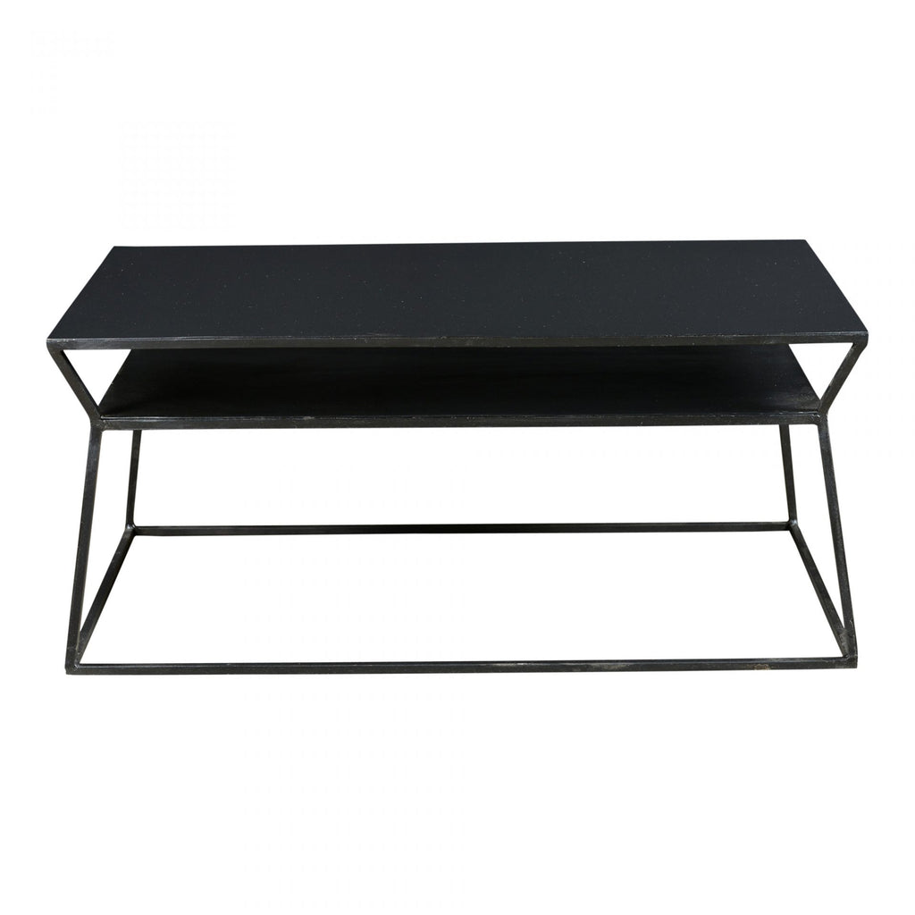 "We love the practicality of the Osaka Coffee Table with it's two-tiered storage design. A sleek coffee table to add to any small space  Size: 35""w x 20""d x 16""h Materials: Iron"