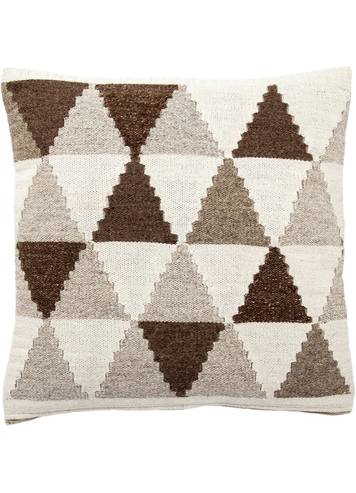 "Ethnic patterns meet eastern European folk influences in this collection of comfy pillows. A mash-up of fashionable, global style trends, these accent pieces can give eclectic interiors an instant mini-makeover.  Materials: 80% Wool / 20% Cotton Size: 20"" x 20"""