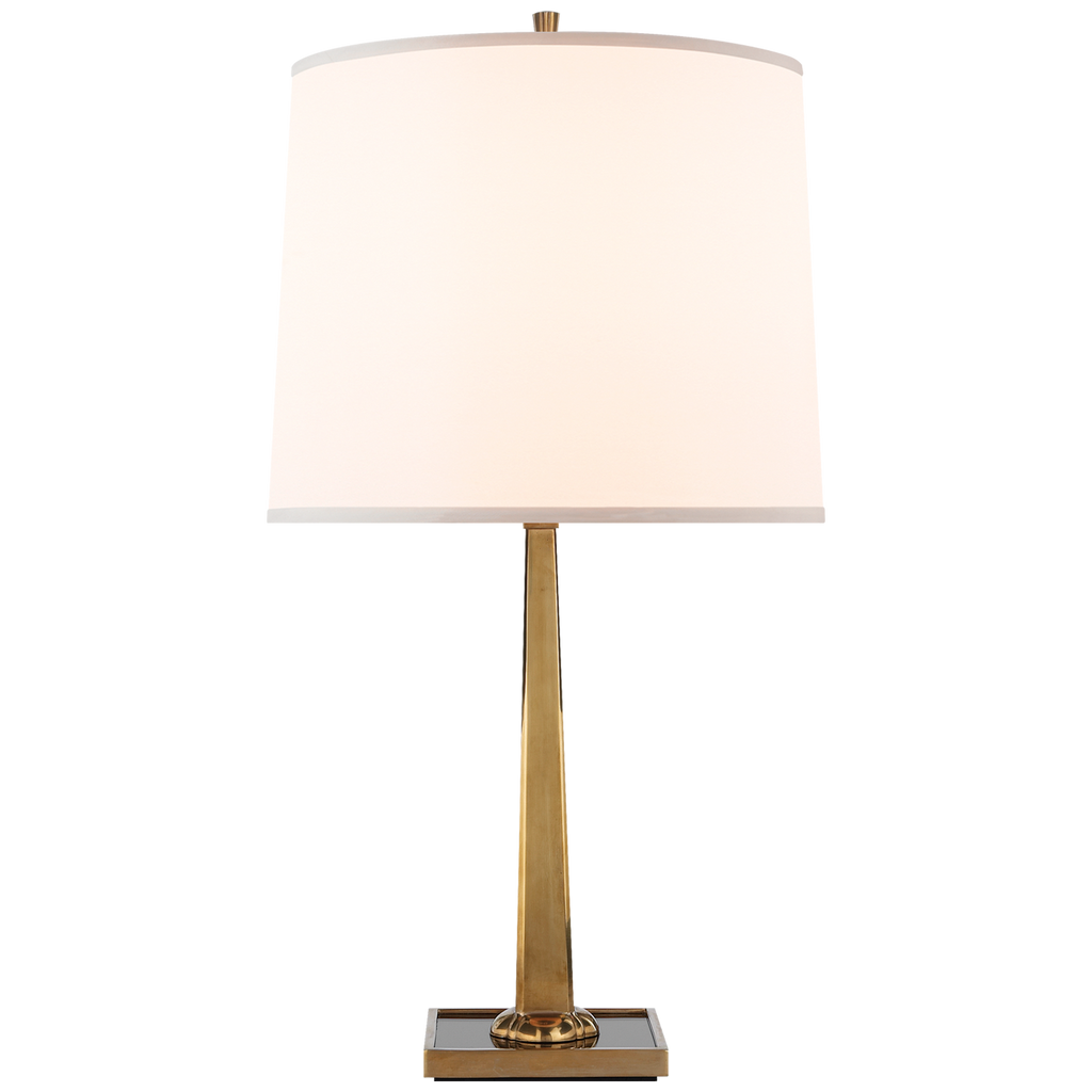 We love the mirror base of the Petal Desk Lamp by Visual Comfort. The dimmer feature is great for setting the right mood for your living room, bedroom, or other area needing extra light  Designer: Barbara Barry