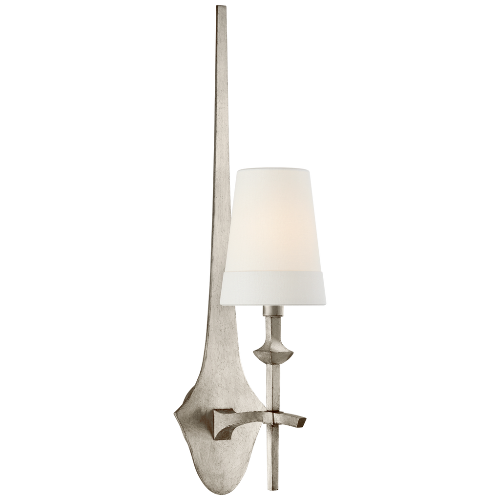 The Pippa Medium Sconce by Visual Comfort has a long, gorgeous backplate that gives the room an extra flair. A beautiful sconce to place in a living room, down the hallway, or in a bathroom  Designer: Thomas O'Brien