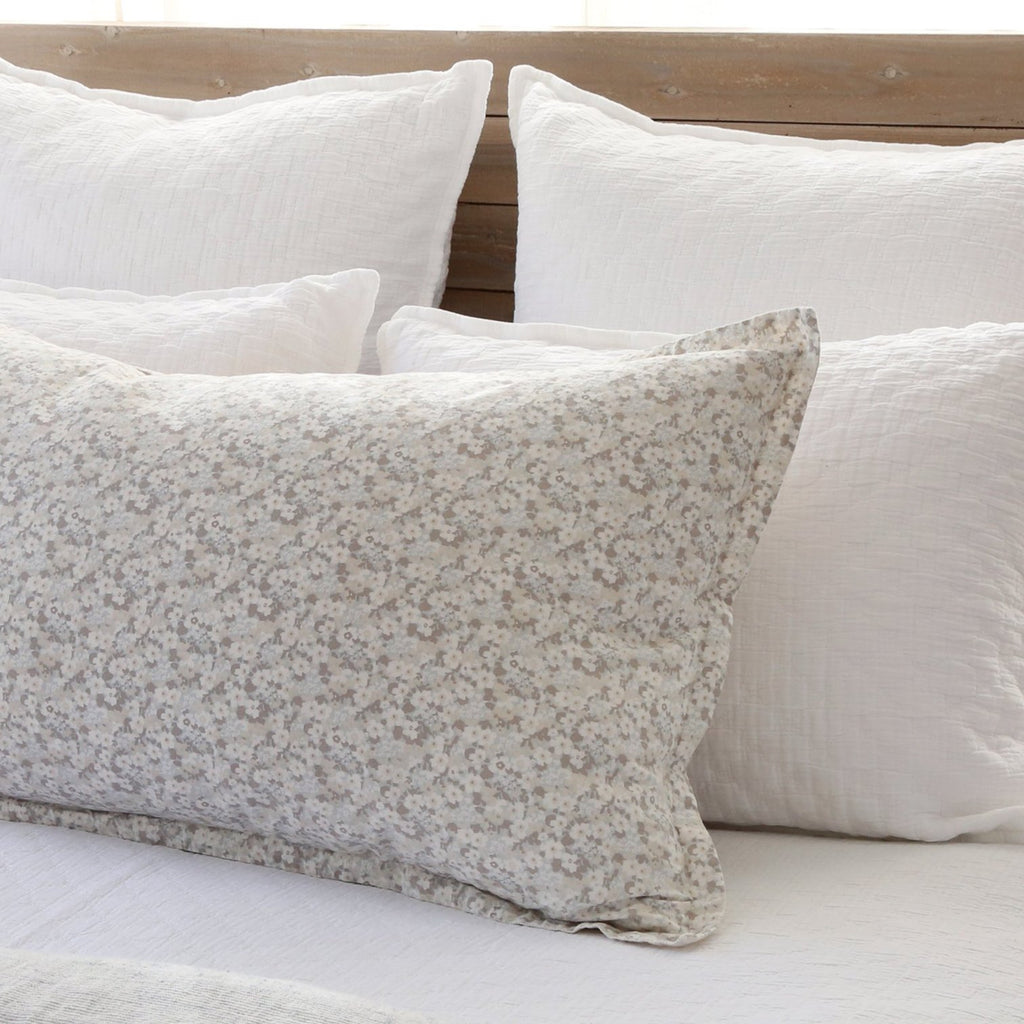 Crafted in Portugal, the Ojai matelasse by Pom Pom at Home is light and casual, bringing comfort with its subtle diamond pattern. The coziest bedding to climb into after a long day.   100% cotton. Machine wash cold; tumble dry low; warm iron as needed. Do not bleach