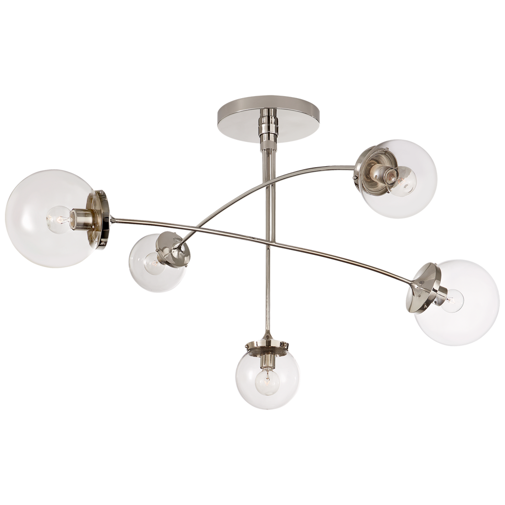 We find art in a chandelier with the arms of this Prescott Medium Mobile Chandelier by Visual Comfort. Add to your living room, kitchen, or other large area to bring a unique, modern feel to your space Designer: kate spade new york