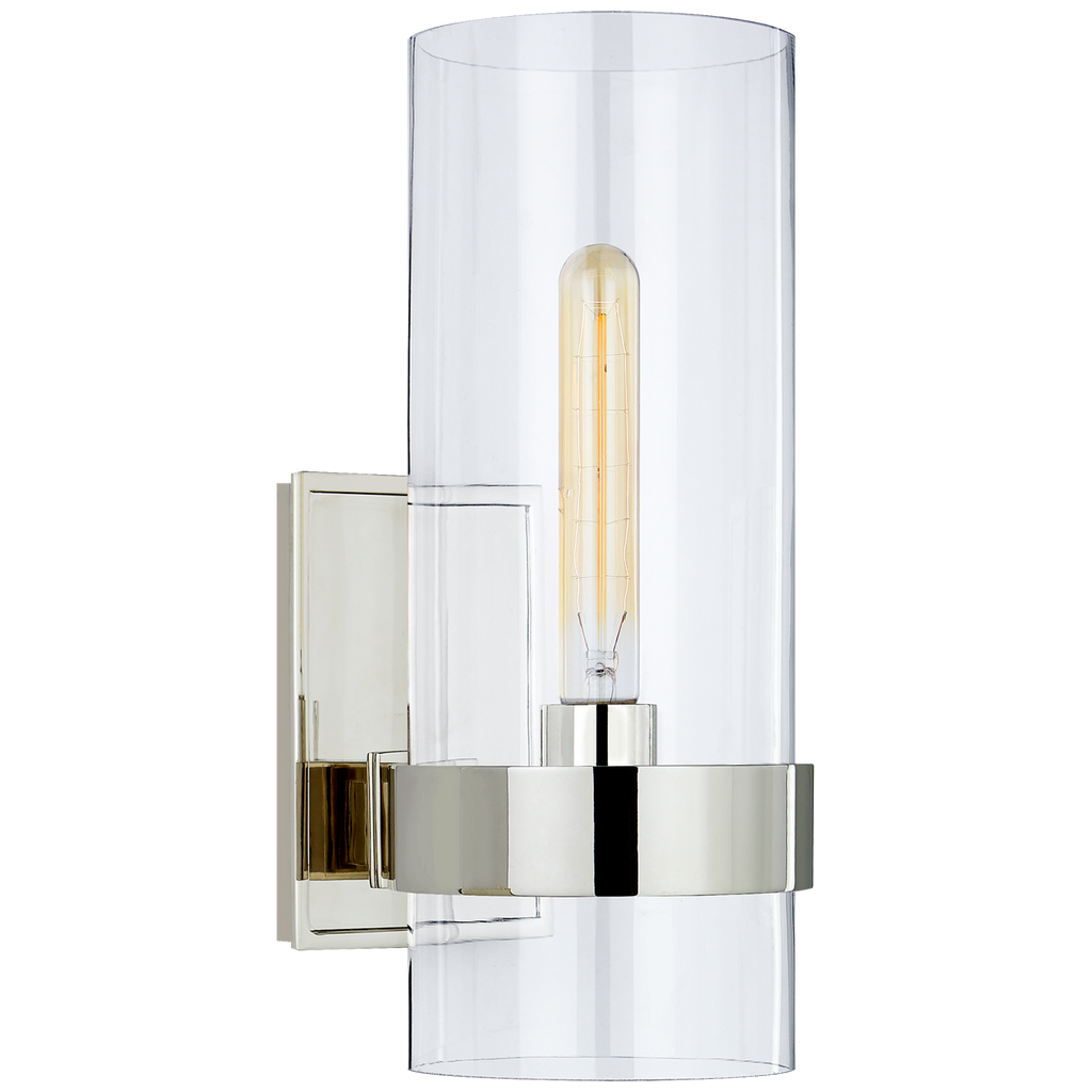 "The Presidio Small Sconce by Visual Comfort has a sleek and clean look to it. This would look gorgeous in a bathroom, hallway, or other area needing extra light  Designer: Ian K. Fowler  Height: 14"" Width: 5"" Extension: 7.75"" Backplate: 4"" x 6"" Rectangle Socket: E26 Keyless Wattage: 60 T"