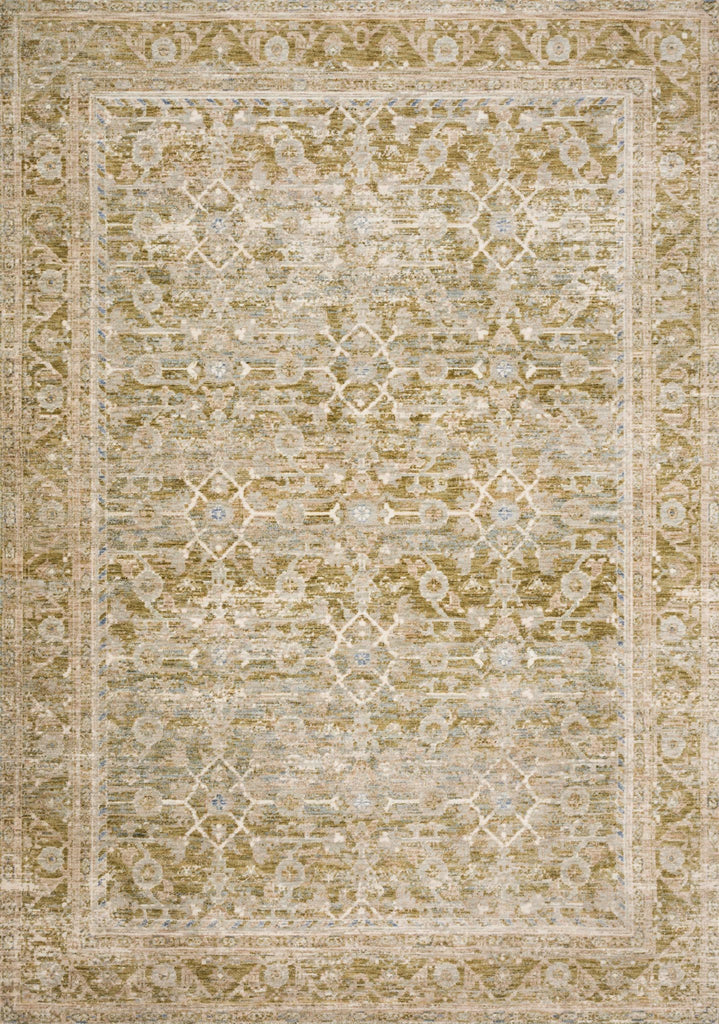 "Introducing Revere, a collection inspired by antique-washed traditional rugs with a calming color palette. Power-loomed in Turkey of polyester for durability and a soft touch. Revere is available in sizes up to 11'6""x15'6"", including three runners up to 16 feet and a 7'10"" round.  Power Loomed 100% Polyester REV-07 Avocado / Multi"