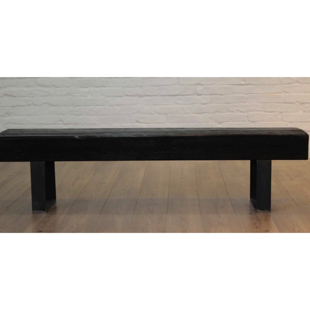 Black Reclaimed Bench