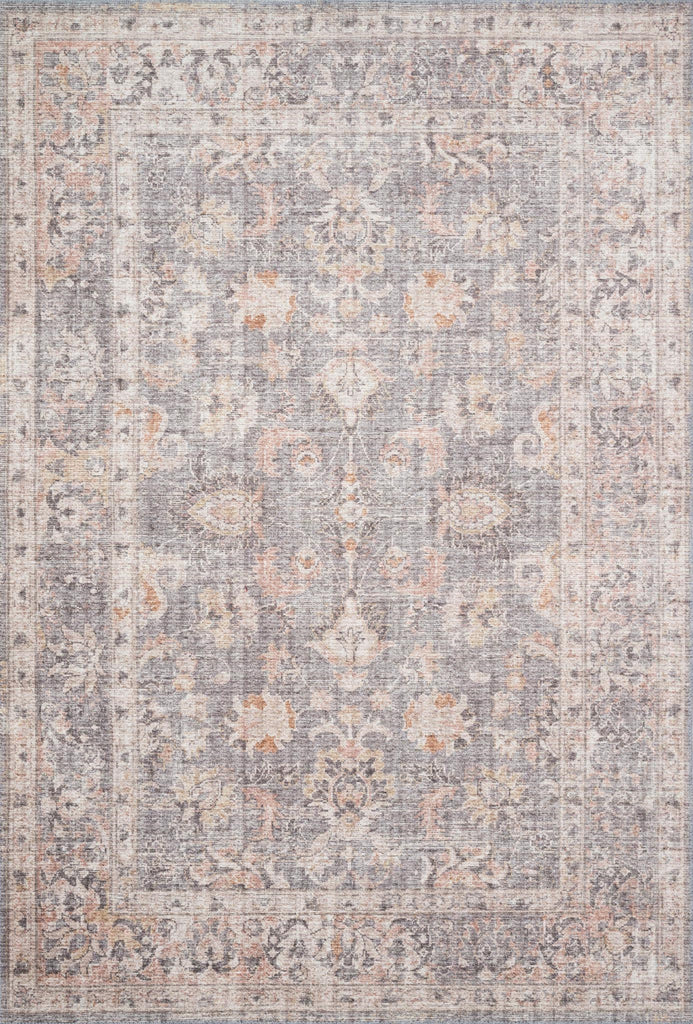 The Skye Collection is timeless and classic with a beautiful, old-world design in a variety of color choices. Power-loomed in China of 100% polyester, these printed designs provide the textured effect of high-end rugs at an affordable price.  Power Loomed 100% Polyester SKY-01 Grey/Apricot