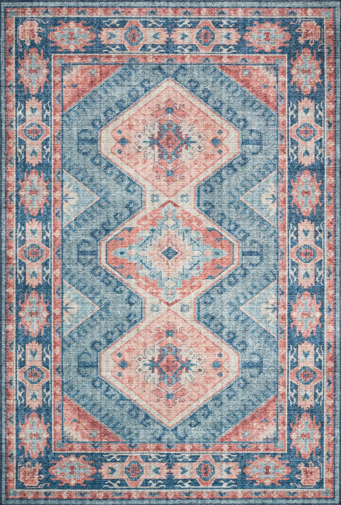 The Skye Collection is timeless and classic with a beautiful, old-world design in a variety of color choices. Power-loomed in China of 100% polyester, these printed designs provide the textured effect of high-end rugs at an affordable price.  Power Loomed 100% Polyester SKY-03 Turquoise/Terracotta