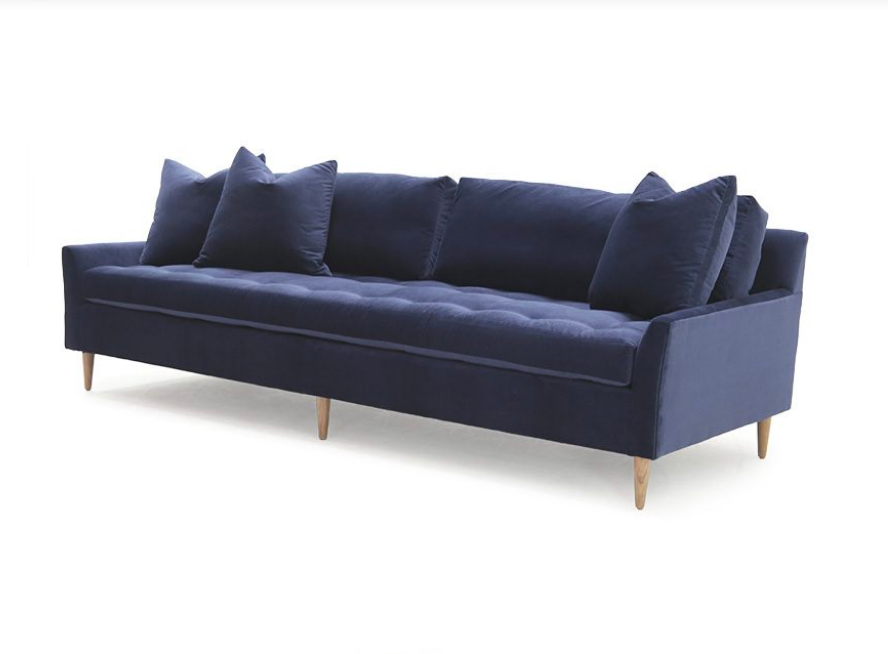 The Blanche Sofa Family is a timeless classic! Bench-crafted in our North Carolina atelier, it features:  • Foam Down Seat Construction • Loose Seat • Upholstered Only • Double Needle • Upholstered Leg Optional • Please Specify Leg Finish • Available as a Sectional – Please see Sectional Guide