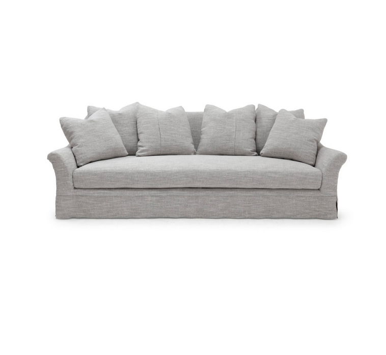 The Camille Sofa is a modern, timeless classic made to last for generations. Bench-crafted with a sustainably harvested hardwood frame and 8-way hand-tied seat construction, it comes standard with:  • foam down seat construction • multiback notch bottom pillows • loose seat cushion • double needle • notch bottom toss pillows • available upholstered and slipcovered • available as a sleeper and a sectional