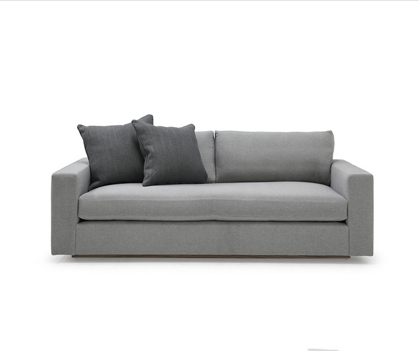 A Verellen best-seller, the Gregoire Sofa is made with a sustainably harvested hardwood frame and 8-way hand-tied seat construction. It comes standard with:  Spring down seat construction Loose seat cushion Double needle stitch detail Knife edge toss pillows 2″ recessed wood base Available as a sectional and sleeper
