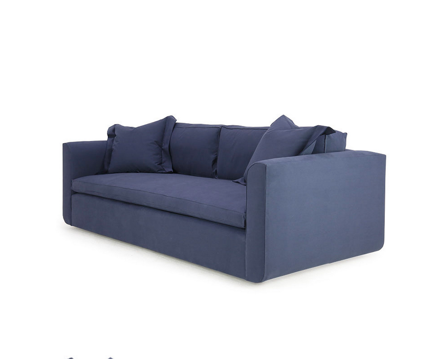 Popular to the Verellen product line, the Greyson Sofa features:  Spring/down seat construction Loose box style seat cushion Boxed back pillows 3″ open flange toss pillows Double needle stitch detail Upholstered only Sits on floating legs