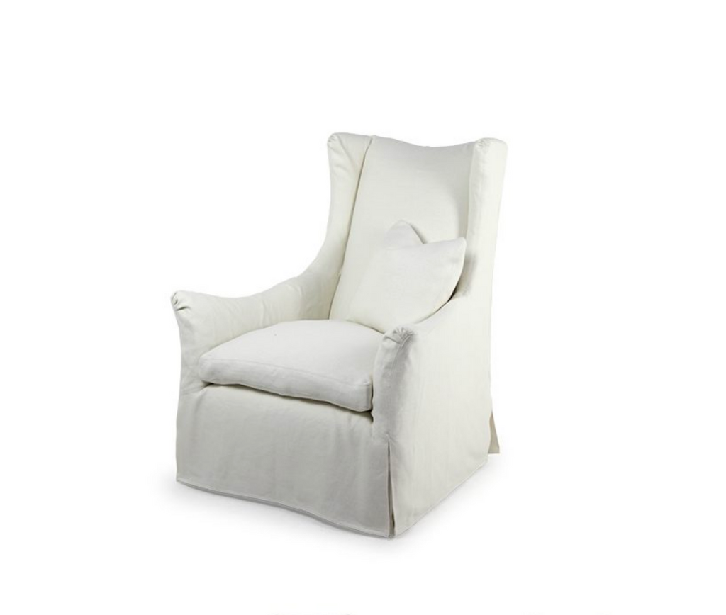 A Timeless Classic, the Charlotte Occasional Chair is bench crafted in our North Carolina atelier. Features include:  loose seat cushion and tight back double needle stitch detail standard slipcover