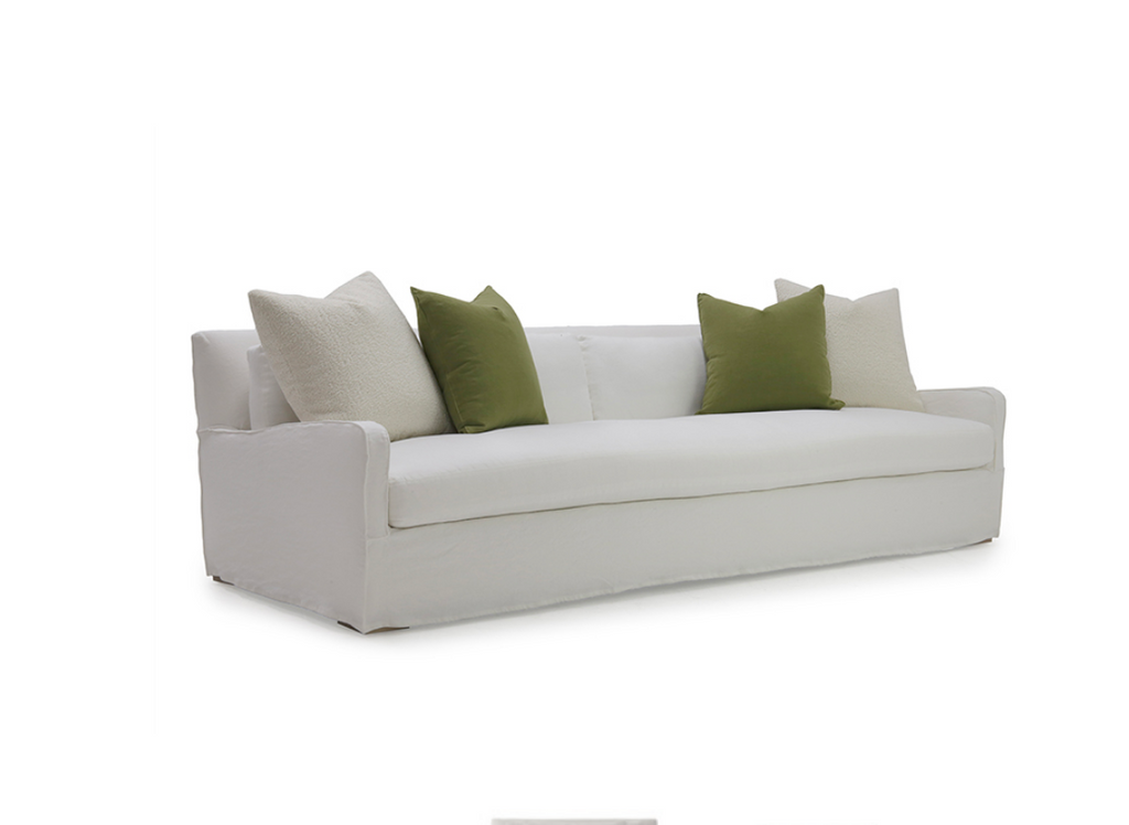 A Verellen best-seller, the Oliver Sofa is bench-crafted with a sustainably harvested hardwood frame and 8-way hand-tied seat construction. It comes standard with:  Foam down seat construction loose boxed style back pillows droopy microfiber toss pillows knife edge toss pillows double needle stitch detail Available as a sectional.