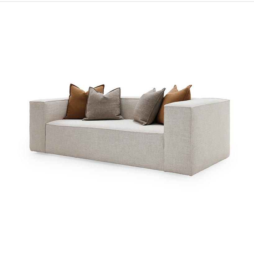 The Spencer Sofa is made with a sustainably harvested hardwood frame and 8-way hand-tied seat construction. This dreamy sofa by Verellen comes standard with:  • Upholstered only (no leather) • Double needle stitch • Tight seat configuration • Foam and fiber seat construction • Tight back configuration • Foam and fiber back construction • Please specify leg finish • Knife edge toss