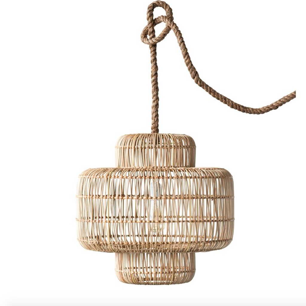 Wicker Pendant Lamp - Amethyst Home