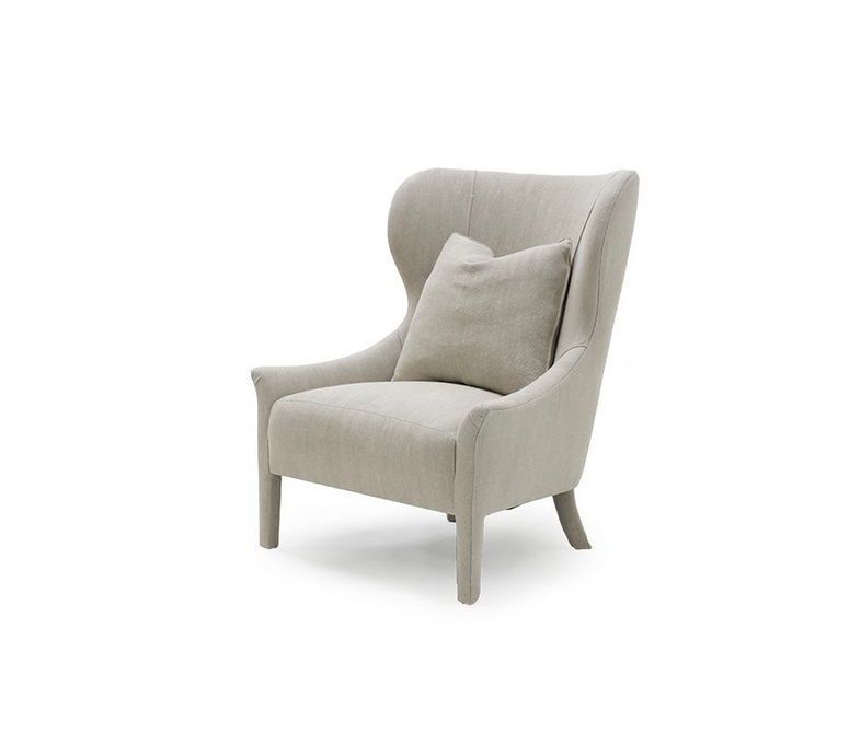 Instantly a timeless classic, our Ava Occasional Chair comes standard with the following:  • Foam Down Wrap Seat Construction • Tight Seat Cushion • Notch Bottom Toss Pillow • Double Needle • Please Specify Leg Finish • Upholstered Only