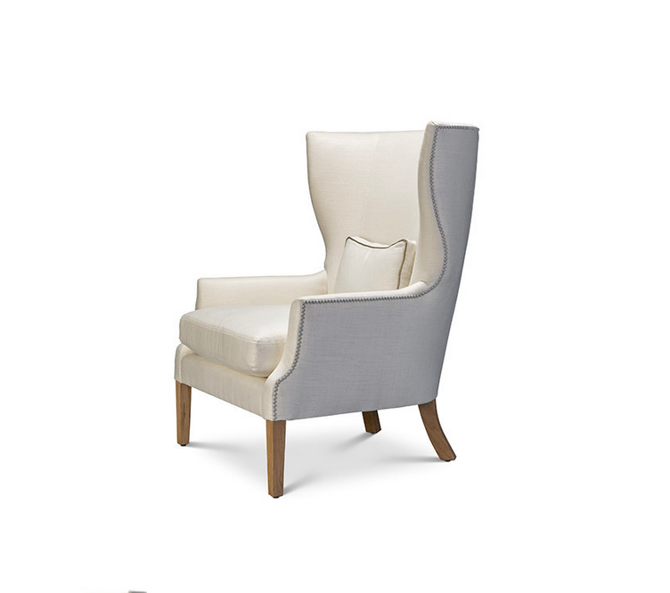 The Celine Occasional Chair provides ultimate comfort and style for any environment. It comes standard with:  • Spring Down Seat Construction • Loose Boxed Style Seat Cushion • Box Style Toss Pillow • Double Needle • Please Specify Nailhead Selection • Please Specify Leg Finish • Upholstered Only