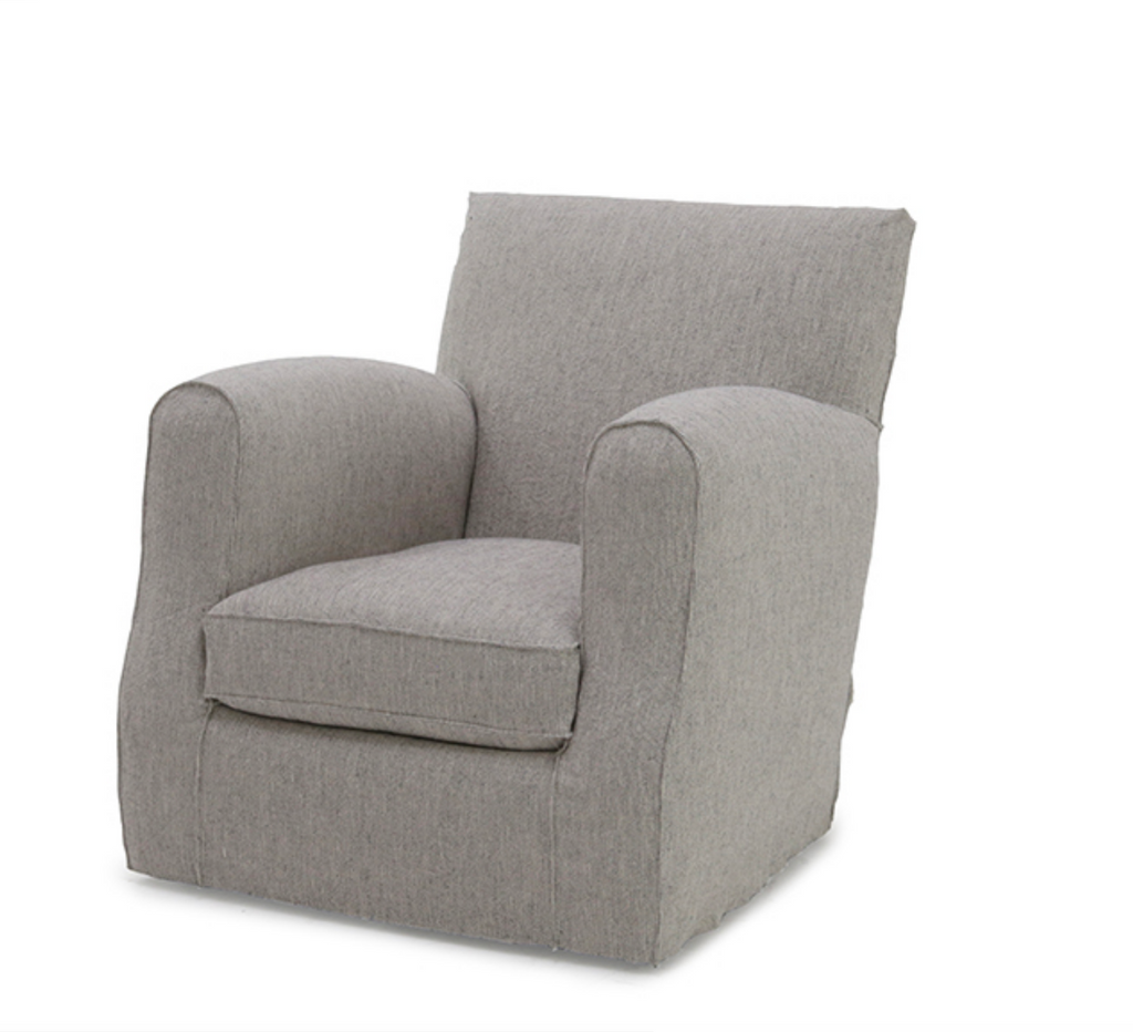 Comfort rules in the Verellen Damien Occasional Chair. It features:  • Foam Down Wrap Seat Construction • Loose Box Style Seat Cushion • Double Needle • Please Specify Nail Head Selection • Please Specify Leg Finish • Upholstered and Slipcovered Available