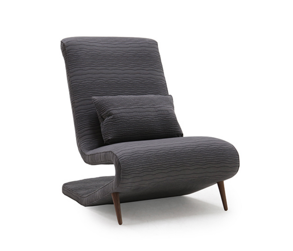 A modern classic, our Marcela Occasional Chair by Verellen comes standard with:  tight seat and back double needle stitch detail upholstered or exposed wood turned legs knife edge kidney pillow standard welt on outside