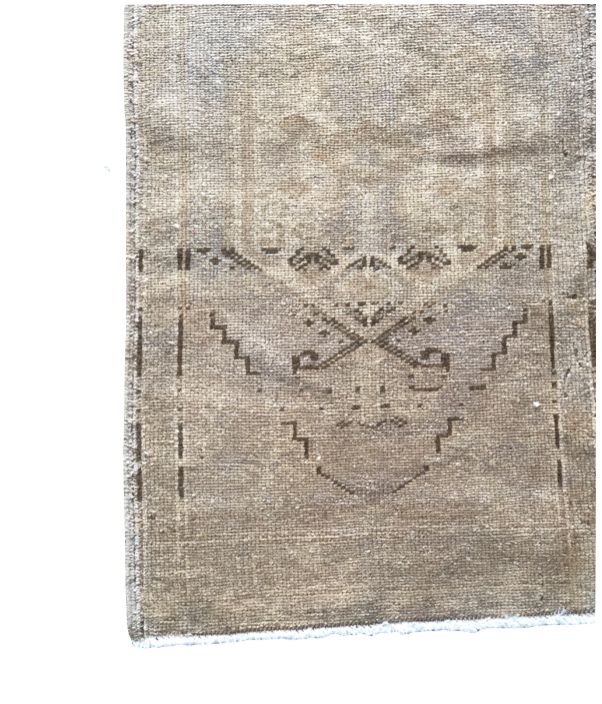 "The Walter Mini Vintage Rug is in beautiful condition and size. This hand knotted vintage Anatolian Yastik rug is easy to care and maintain and will have very little shedding. The rug is a perfect fit for an entryway, bathroom, back door, laundry room, bedroom, or any other place!  Hand Knotted 100% Wool 20"" x 39"""