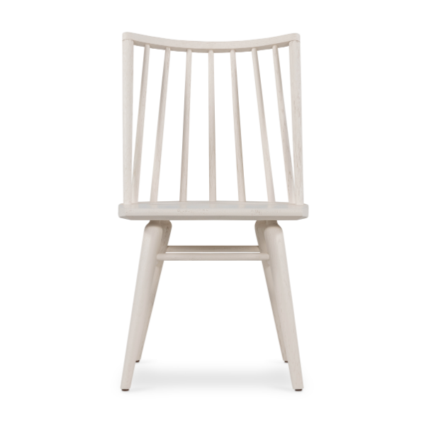 "We love the tall oak seating of this Lewis Windsor Off White Dining Chair. This brings a clean, contemporary look to any dining room.   Size: 18.5""w x 21""d x 32.5""h Materials: Solid Oak, Solid Oak, Solid Oak"