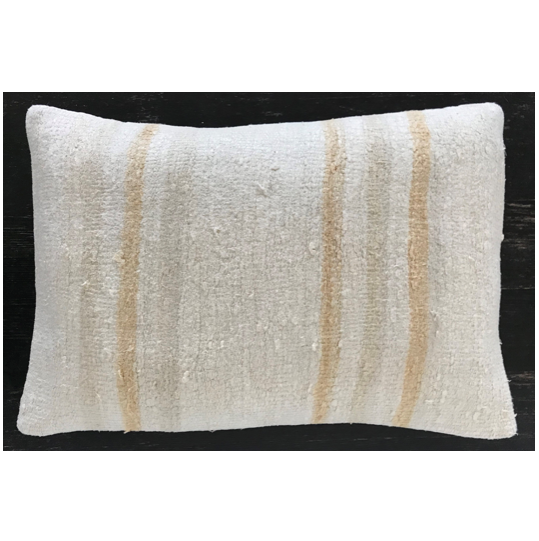 Snow Drop Vintage Hemp Pillow