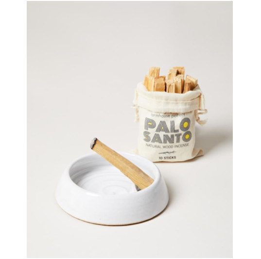 "We love the calming, natural aromatic wood smells of the Taper Palo Canto Burner. Each one includes one bag of 10 Palo Santo Incense Sticks that are sustainably harvested from the Palo Santo Tree.   Size: 5.5""x 1.5"""