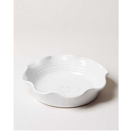 "The Laurel Pie Dish is the perfect vessel to cook your favorite sweet or savory recipe during the holiday season Size: 11.5""x 2.5""  Wheel Thrown in Vermont, US Durable American Stoneware Oven, Microwave, and Dishwasher safe"