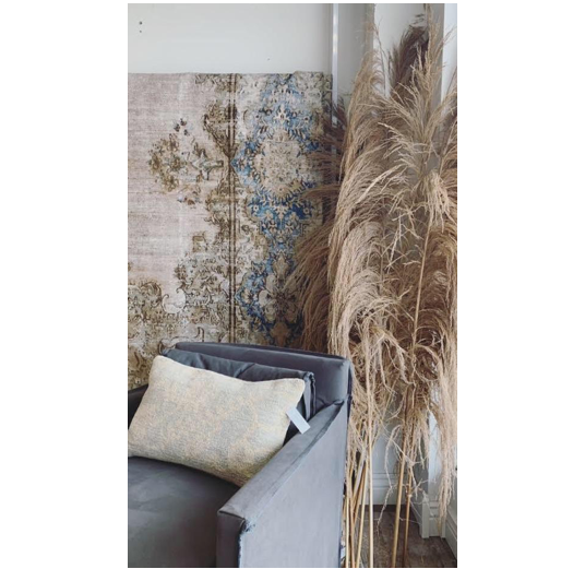 Wispy beige plumes of natural large dried pampas plant decor  Size: 6 ft