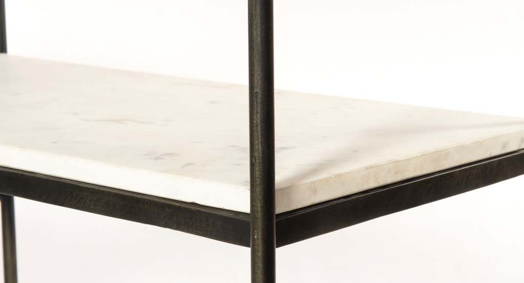 Lily Hammered Grey Console Table